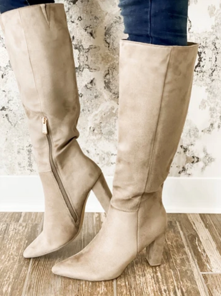 Our Sassy Knee High Boot - Taupe