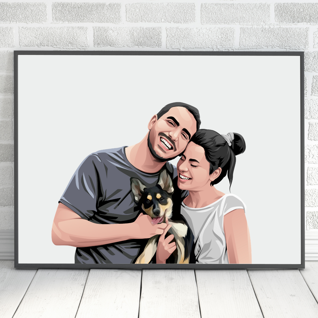 Pet and Owner Portraits - PRINT NEST