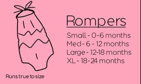 Rompers Size Chart