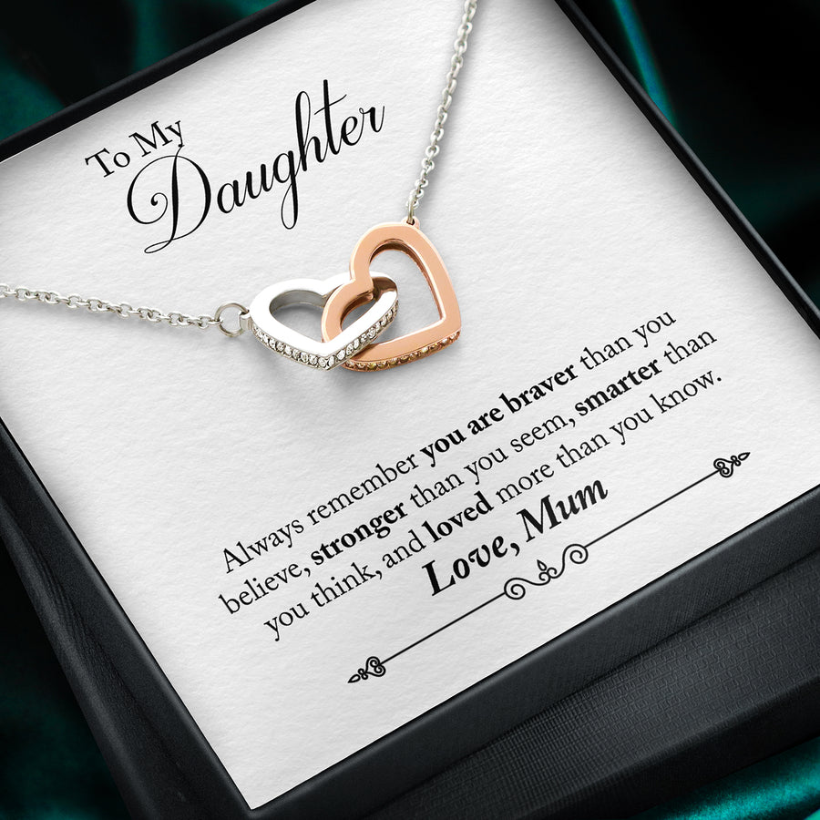 To Daughter, Love Mum Necklace