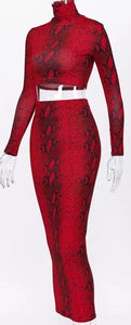 CANDY RED SNAKE SKIN