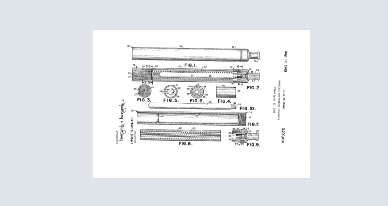 Herbert A. Gilbert's Patent registered in 1963