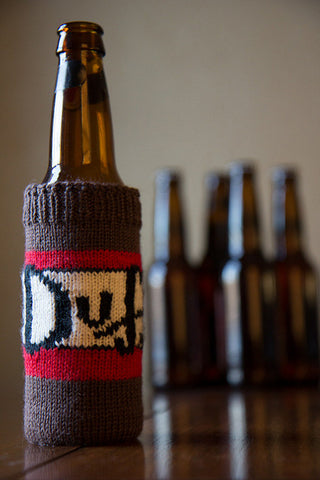 Duff beer cozy pattern