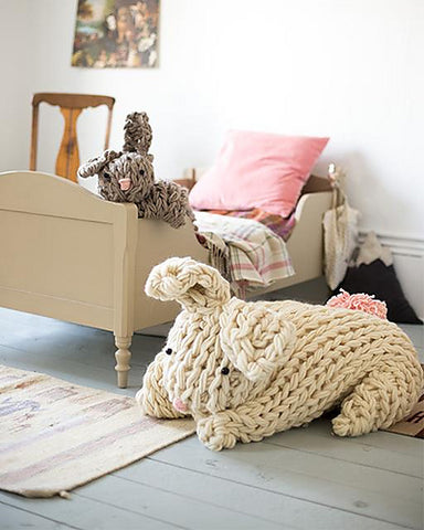 Giant Arm Knit Bunny - ImagiKnit's Free Pattern Friday