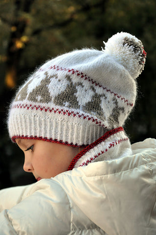 Snow Bunnies Hat on ImagiKnit's Free Pattern Friday
