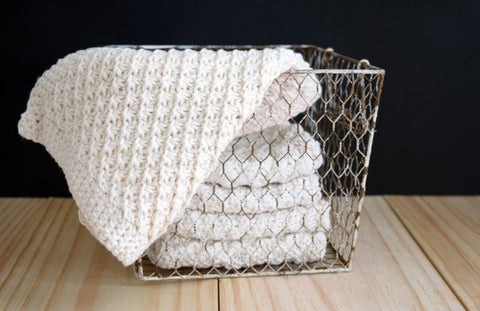 Spa Knit Washcloths for Mother's Day - ImagiKnit Free Pattern Friday