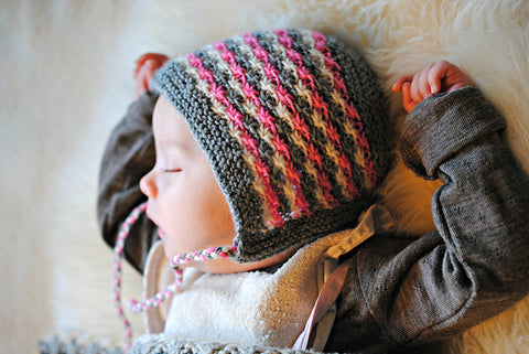 Daisy Bonnet using Baby Ull - Free Pattern Friday