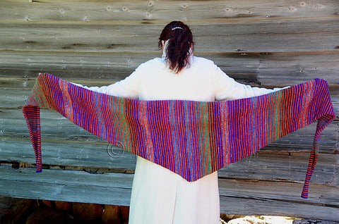 Lifelines Shawl featuring Noro Silk Garden Sock