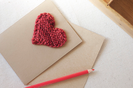 Valentine's Day Knit Heart Card - Free Pattern Friday