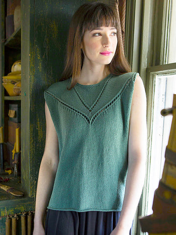 Admit Tank using Berroco Modern Cotton - ImagiKnit's Free Pattern Friday