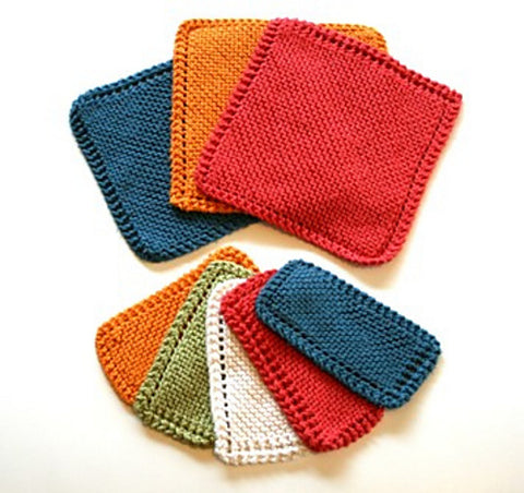 Knit Washcloths for Mother's Dat 2016