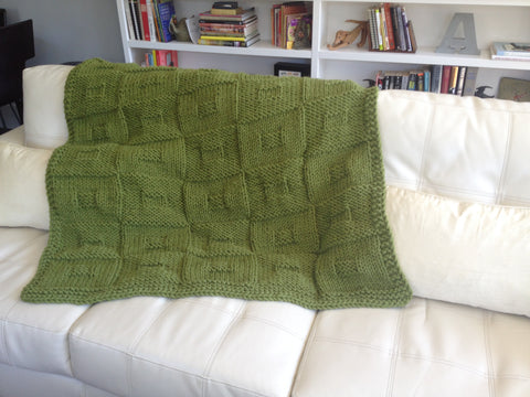 Free Pattern Friday: Encore Mega Blanket at ImagiKnit