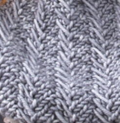 Traverse Cowl stitch pattern