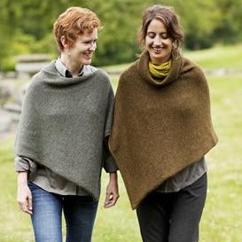 Easy Folded Poncho by Churchmouse