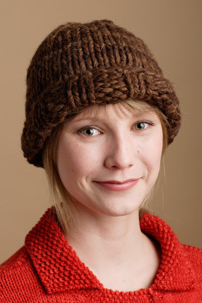 Ribbed Border Stockinette Hat by Shibui