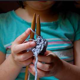 learn to knit (ages 8-12)  //  MYSTERY BOX