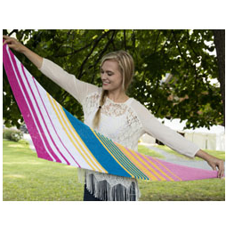 Diagonal Striped Shawl Kit