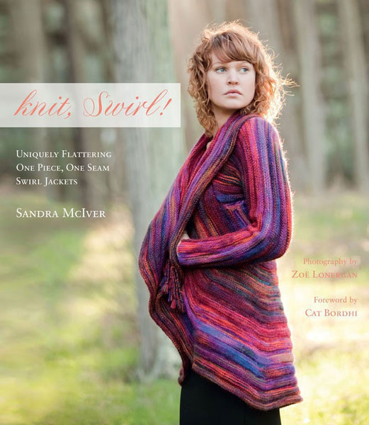 Knit, Swirl! Uniquely Flattering One Piece, One Seam Swirl Jackets