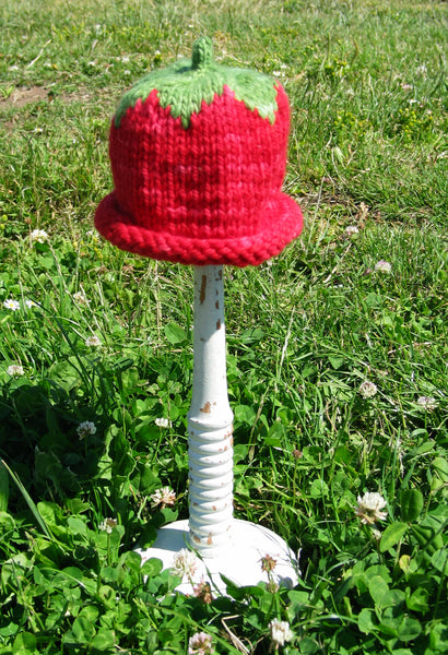 Handknit Strawberry Hat