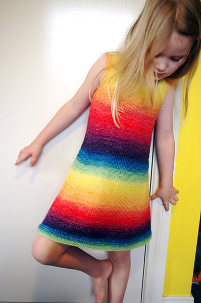 Rainbow Dress by Tikki Knits