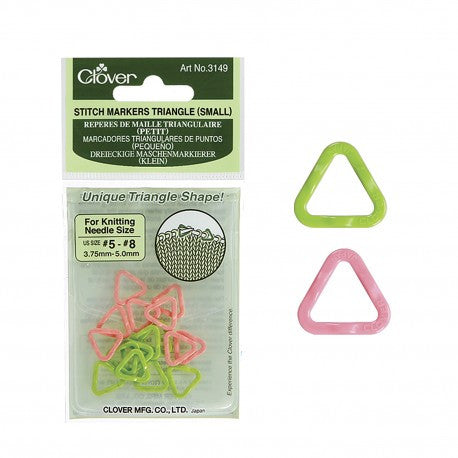 Clover 3149 Triangle Stitch Markers, Small