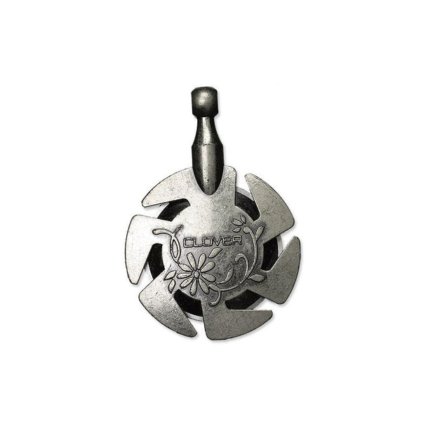 Clover 3106 Yarn Cutter Pendant in Antique Silver