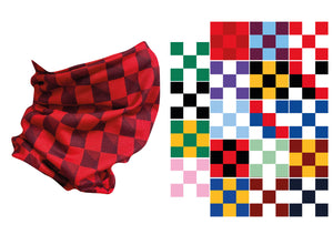 Stitch Snood - Team Colours Small Chequers - click for more colours