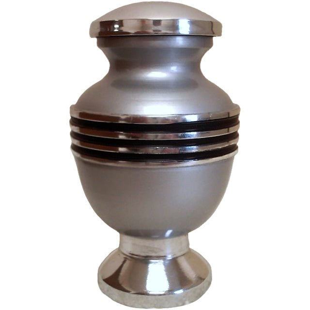 Custom 3-Ring Aluminum Metal Keepsake Urn - 855