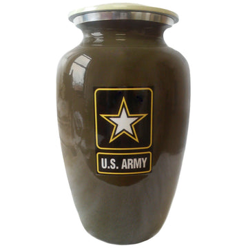 Army Classic Vase Cremation Urn - 406