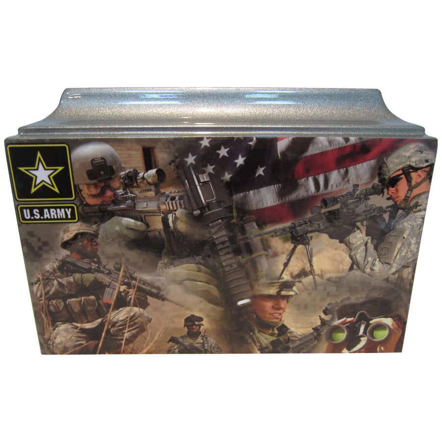 Army Fiberglass Box Cremation Urn - 420