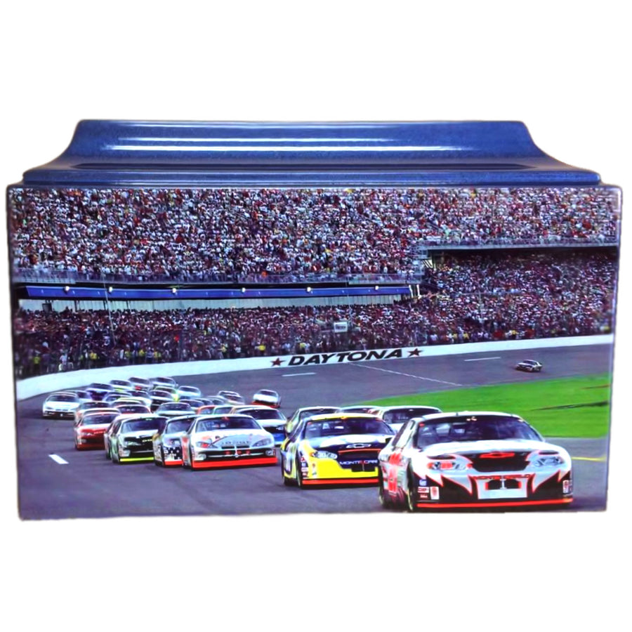 Blue NASCAR Fiberglass Box Cremation Urn - 236