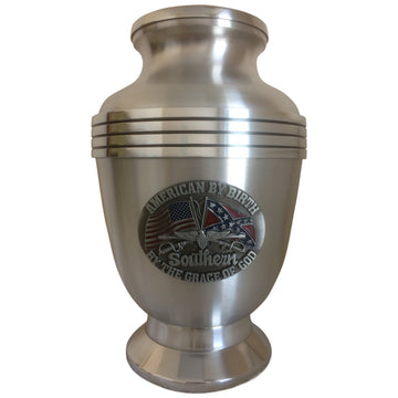 Dixie Southern 3-Ring Aluminum Cremation Urn Shown with 1