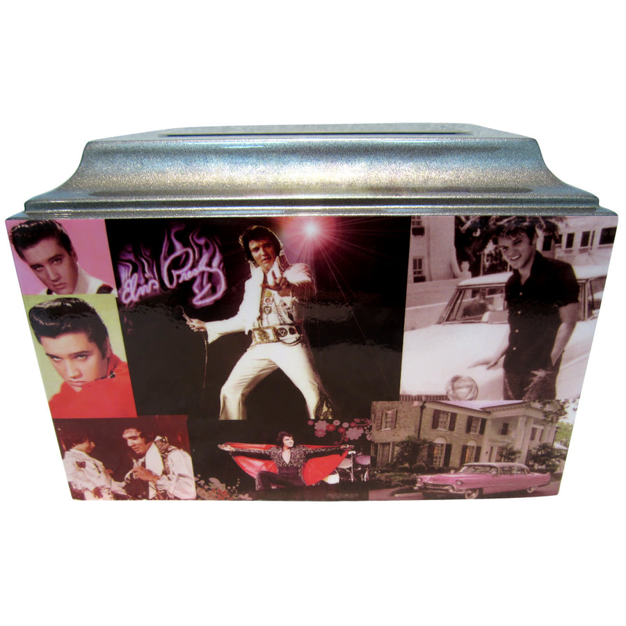 Elvis Presley Collage Fiberglass Box Cremation Urn - 808
