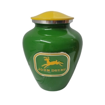 Green & Yellow John Deere Niche Cremation Urn - 502