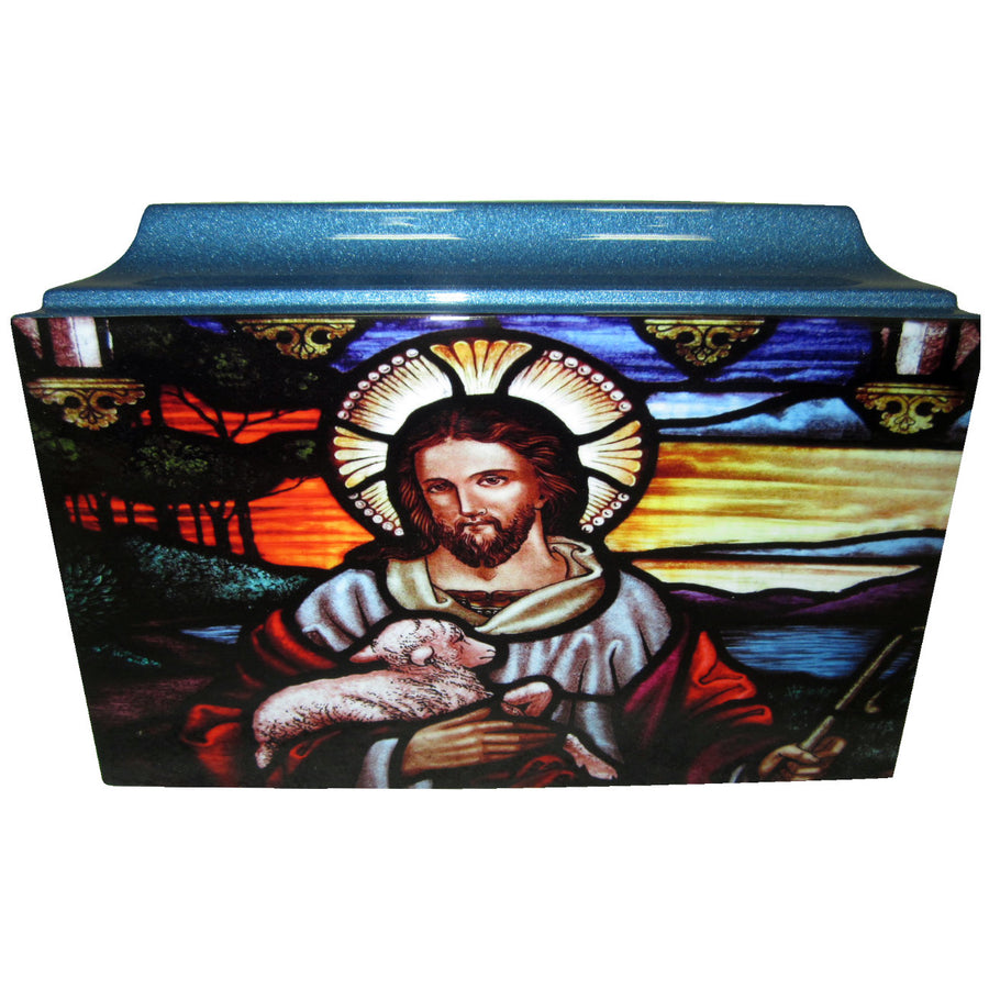 Jesus Christ Fiberglass Box Cremation Urn - 604
