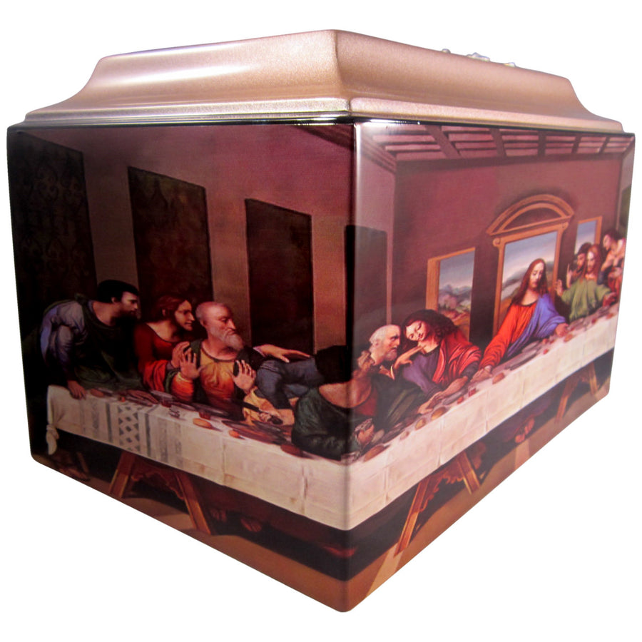 Last Supper Fiberglass Box Cremation Urn - 613