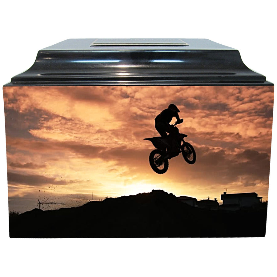 Motorcross Fiberglass Box Cremation Urn - 237