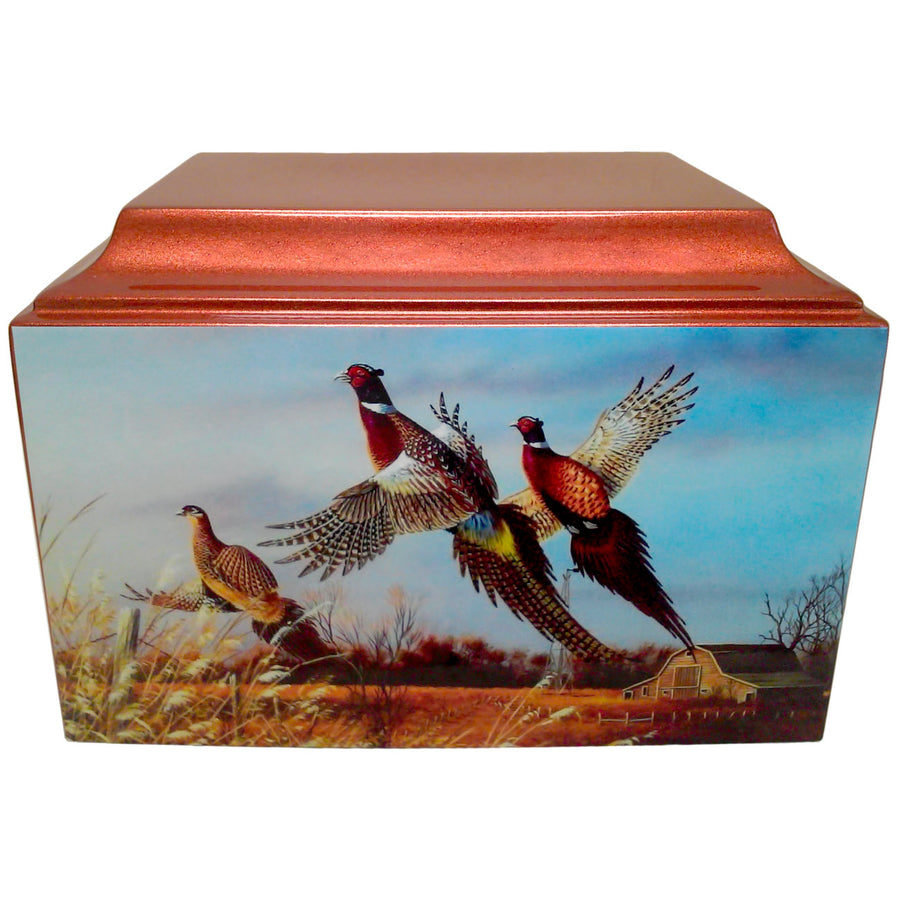 Pheasant Bird Hunter Fiberglass Box Cremation Urn - 521