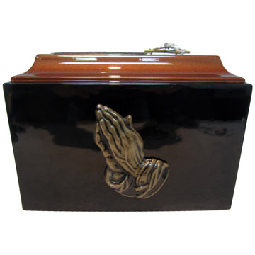 Praying Hands Fiberglass Box Cremation Urn - 614