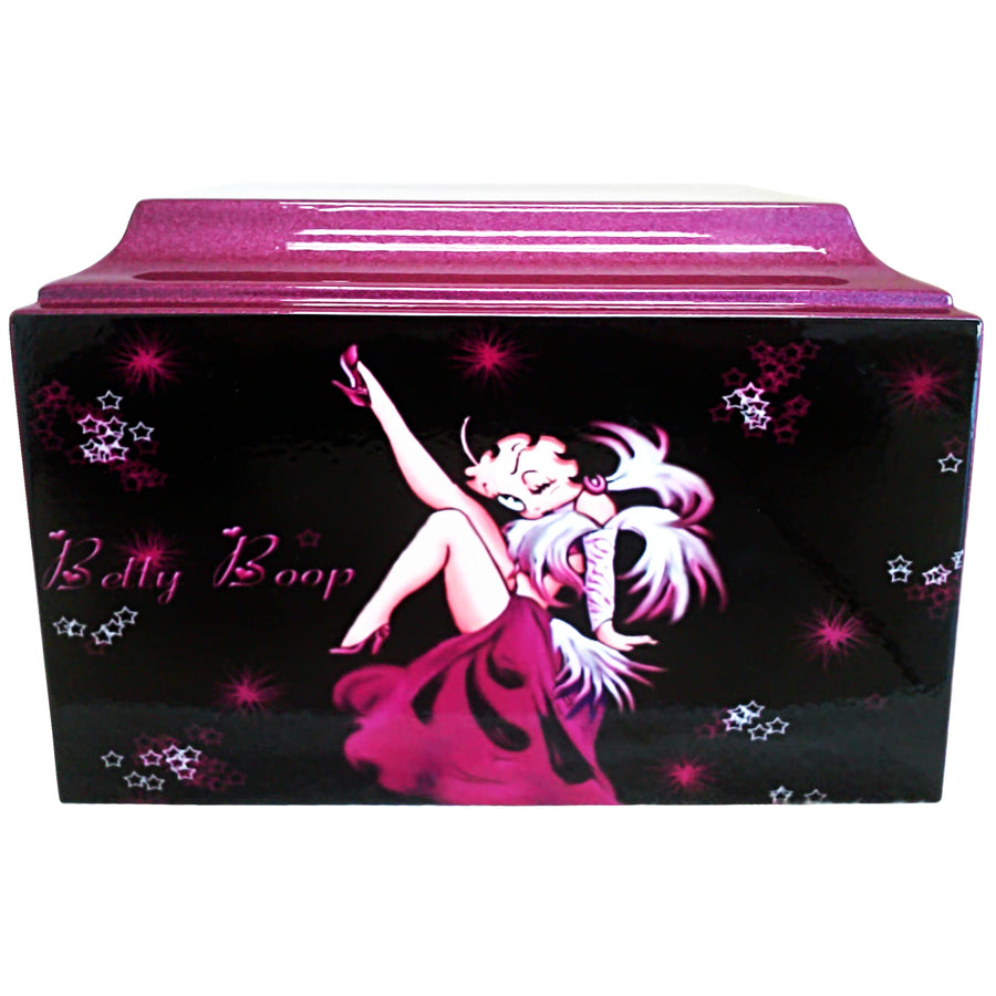 Purple Betty Boop Fiberglass Box Cremation Urn - 313