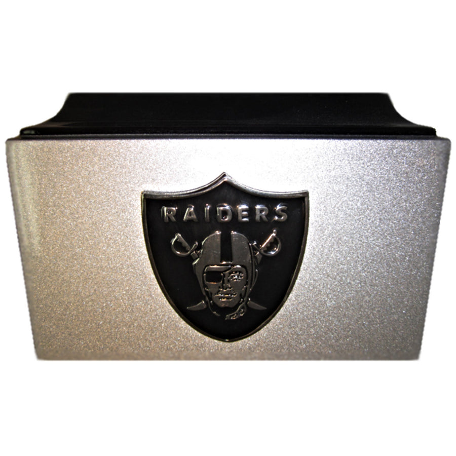 Raiders Football Fiberglass Box Cremation Urn Shown with 3D Solid Metal Medallion - 110