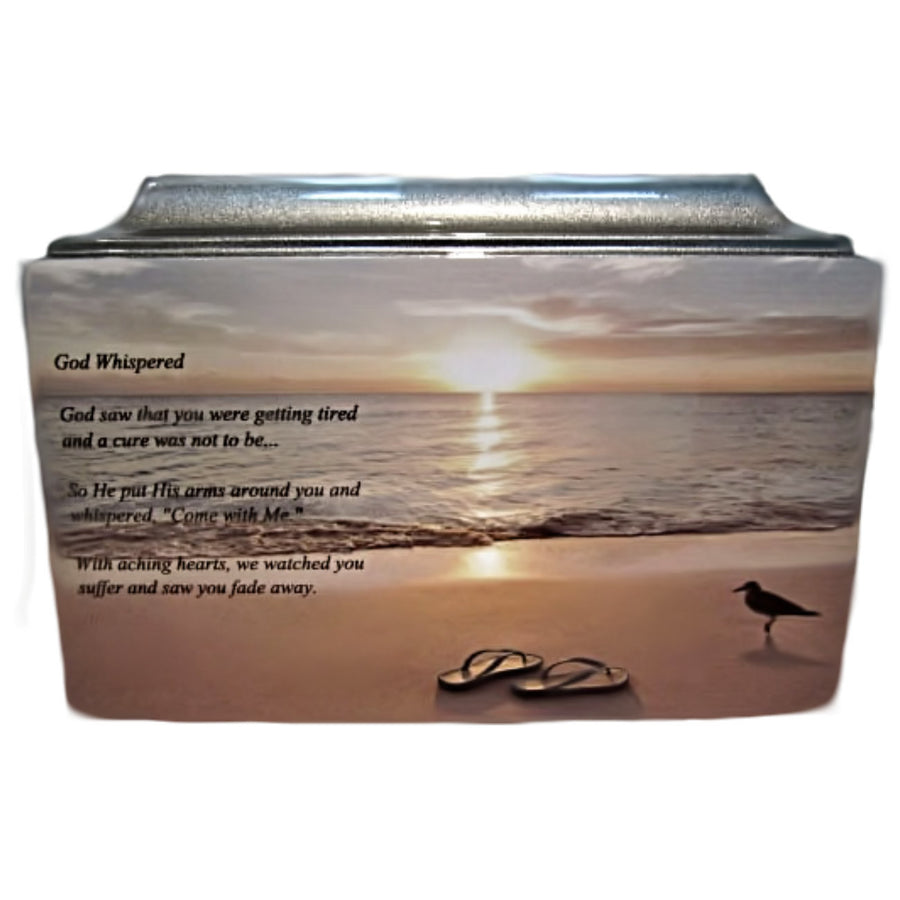Silver Beach Fiberglass Box Cremation Urn - 611