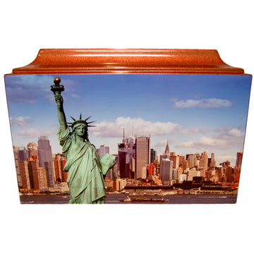 Statue of Liberty Fiberglass Box Cremation Urn - 803