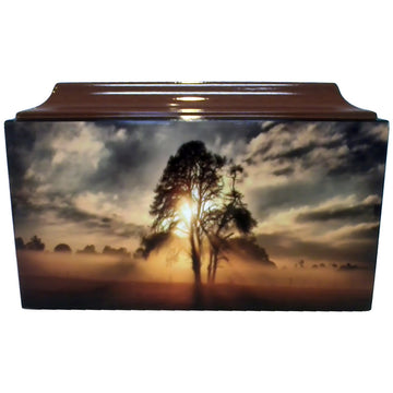 Sunset Fiberglass Box Cremation Urn - 615