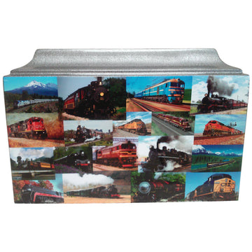 Vintage  Railroad Train Fiberglass Box Cremation Urn - 874