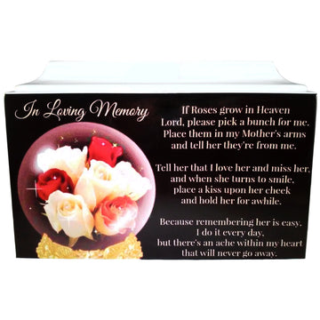 Woman's Globe Fiberglass Box Cremation Urn - 618
