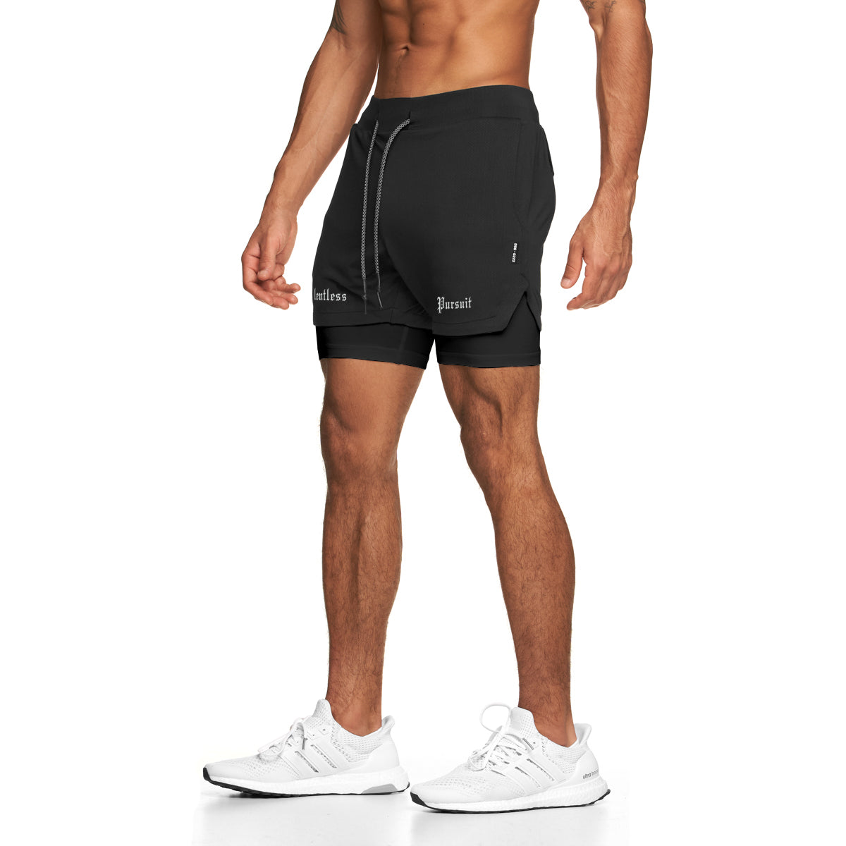 "0222. Silver-Lite® ""Relentless Pursuit"" 5"" Liner Short - Black"