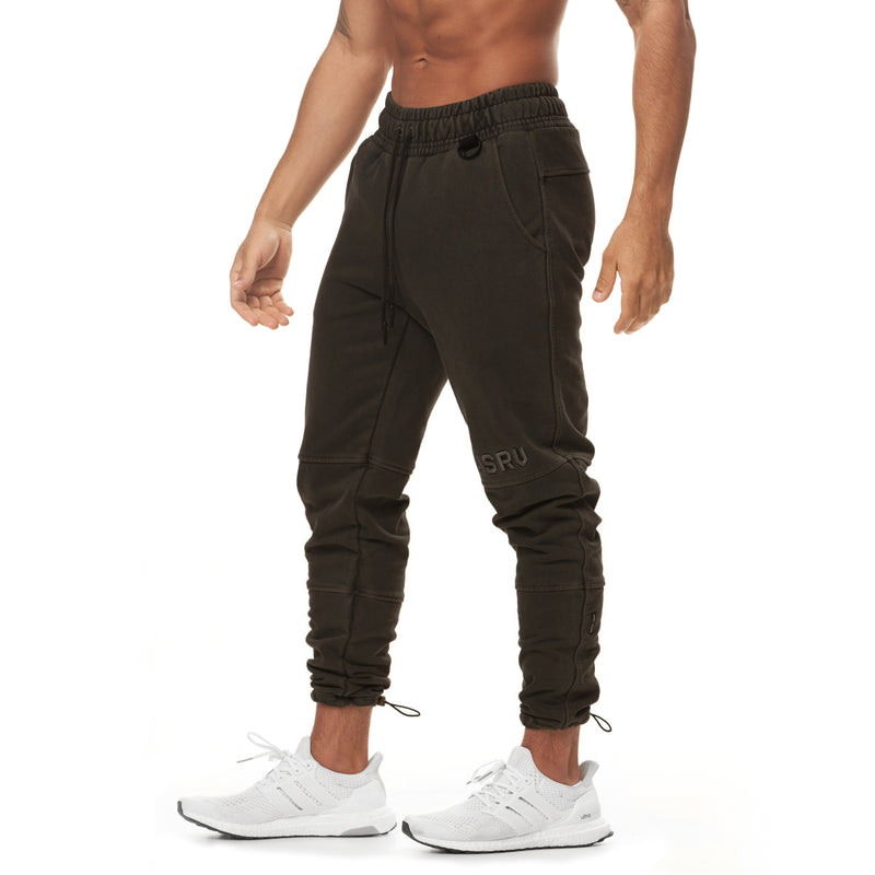 0266. Garment-Dyed French Terry Relaxed Jogger - Dark Earth