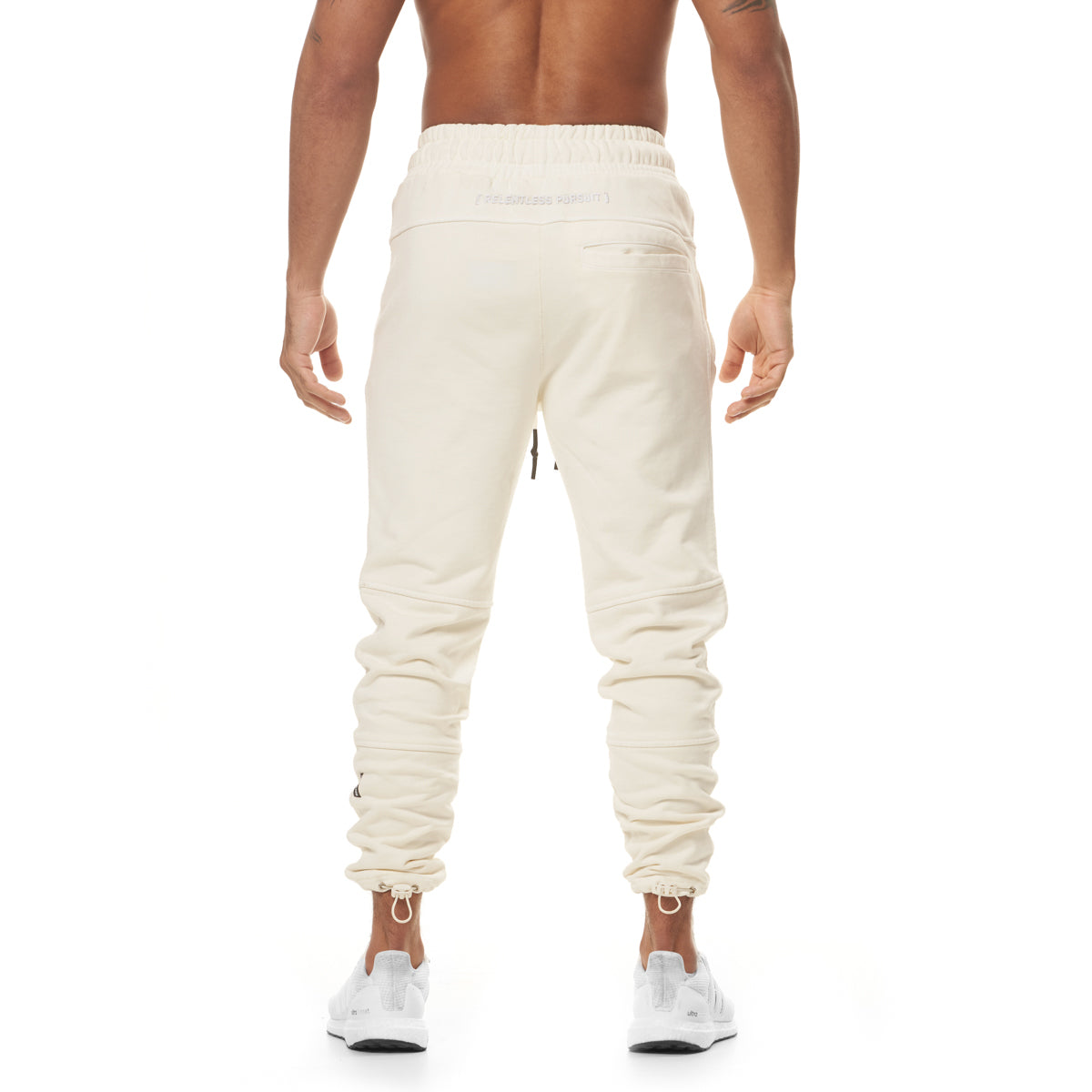 0266. Garment-Dyed French Terry Relaxed Jogger - Ivory Cream