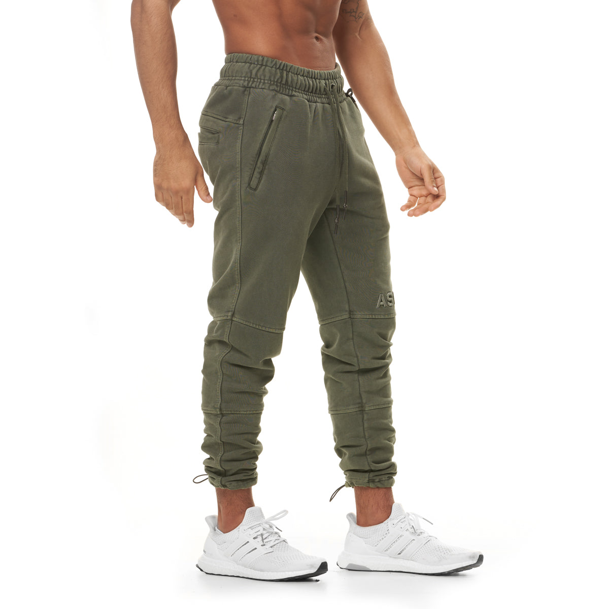 0266. Garment-Dyed French Terry Relaxed Jogger - Olive